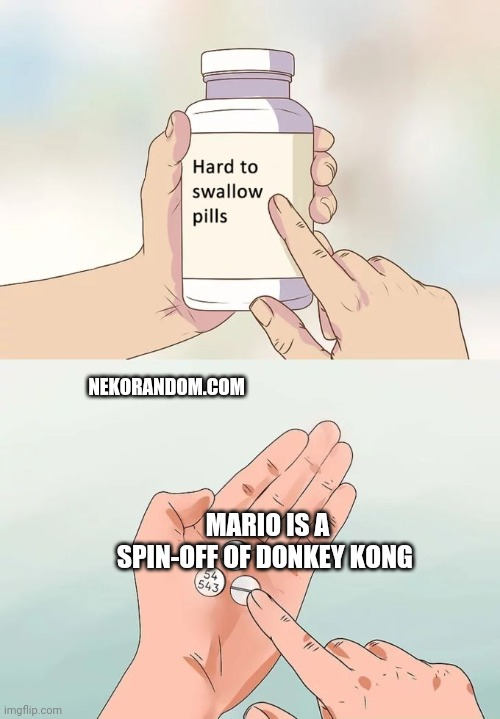 Memes Mario is a spin-off of Donkey Kong