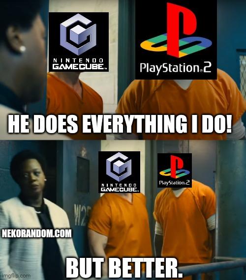 Memes Nintendo Gamecube vs sony ps2
