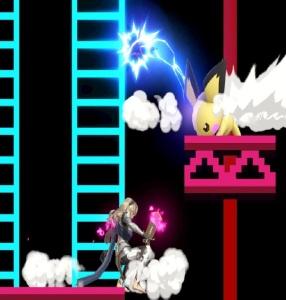 Pichu vs corrin 75m Donkey Kong stage super Smash Bros ultimate Nintendo Switch