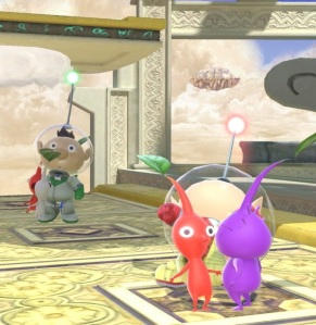 Alph and Captain Olimar super Smash Bros ultimate Nintendo Switch Pikmin
