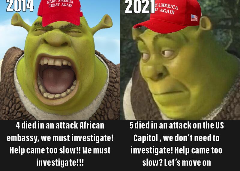 Memes Republicans on benghazi vs capitol riots
