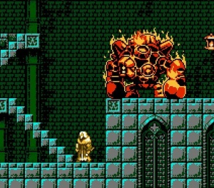 Alfred vs fire golem Bloodstained: Curse of the Moon Nintendo Switch Xbox One PS4