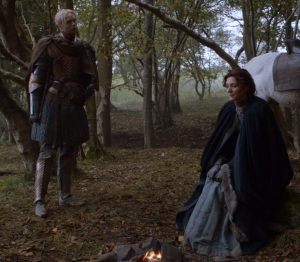 Brienne of Tarth pledges loyalty to catelyn Stark game of Thrones HBO