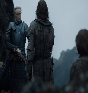 Brienne of Tarth fights the Hound game of Thrones HBO