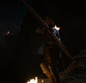 Bronn lights up fire arrow battle of blackwater bay game of Thrones HBO