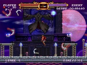 Grim reaper death boss battle Castlevania: The Adventure ReBirth Nintendo Wii