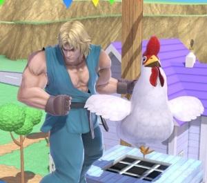 Ken holding Cucco Zelda Chicken super Smash Bros ultimate Nintendo Switch
