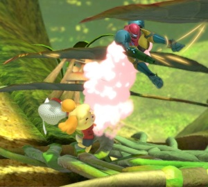 Isabelle vs Samus Aran Distant Planet Stage Super Smash Bros ultimate Nintendo Switch Pikmin