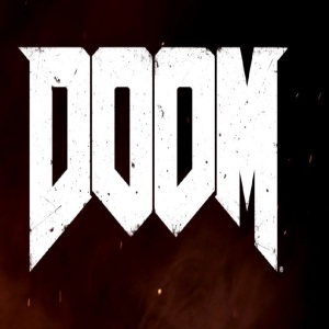 Doom logo video game