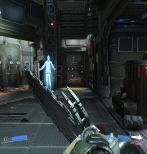 Using chainsaw Doom PC Xbox One PS4 Nintendo Switch