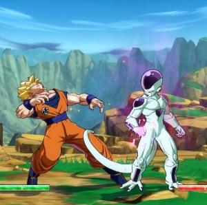 Dragon Ball FighterZ super Saiyan goku slapped by Frieza Nintendo Switch Xbox One PS4