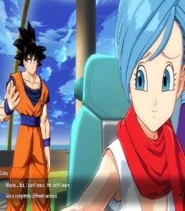 Goku and Bulma dragon Ball FighterZ Nintendo Switch Xbox One PS4