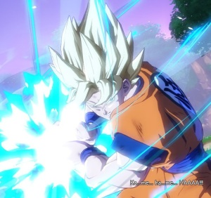 Goku using Kamehameha to kill Android 21 dragon Ball FighterZ Nintendo Switch Xbox One PS4