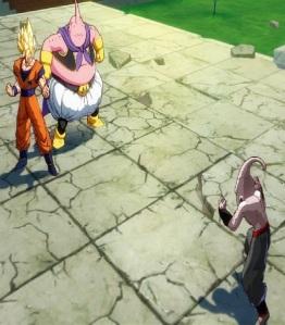 Dragon Ball FighterZ super Saiyan goku and Majin buu fight kid Buu clone Nintendo Switch Xbox One PS4