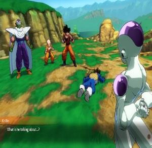 Goku saves vegeta from frieza dragon Ball FighterZ Nintendo Switch Xbox One PS4