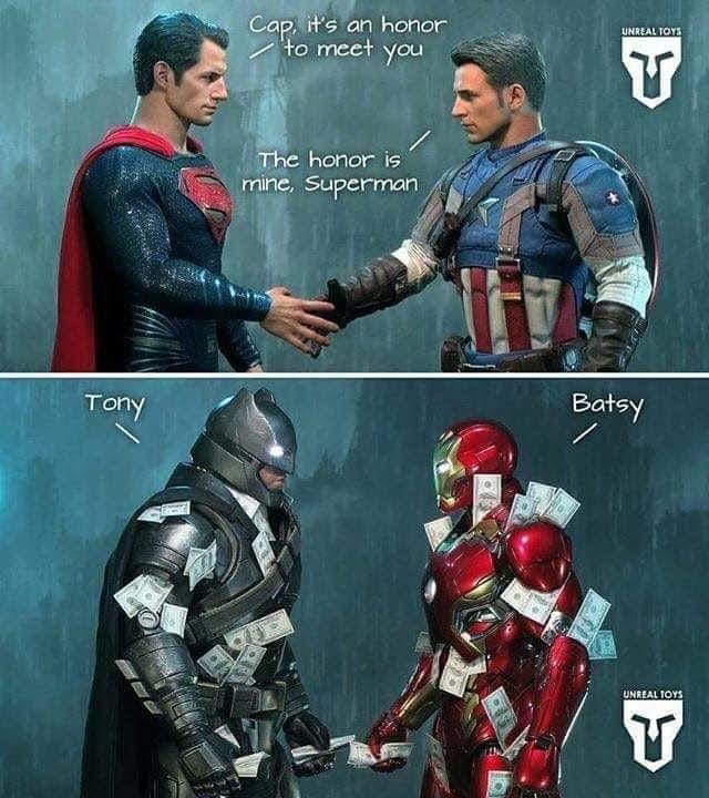 Memes captain America meets superman