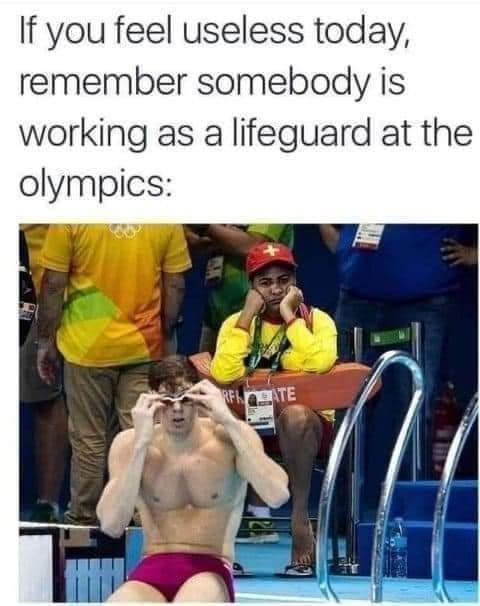 Memes lifeguard Olympics