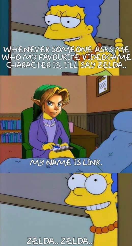 Memes Link being called Zelda