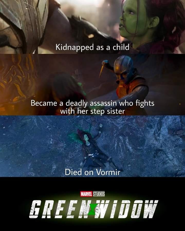 Memes gamora green widow