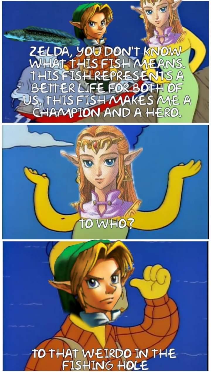 Memes the Legend of Zelda Ocarina of Time fishing