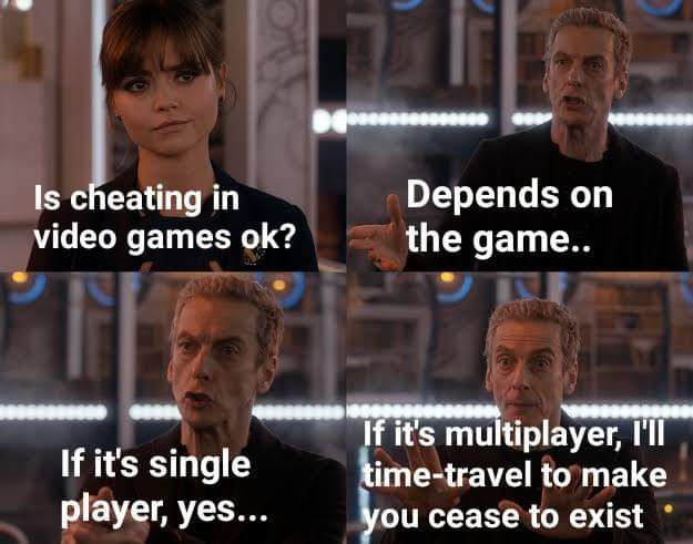 Memes cheating in video games