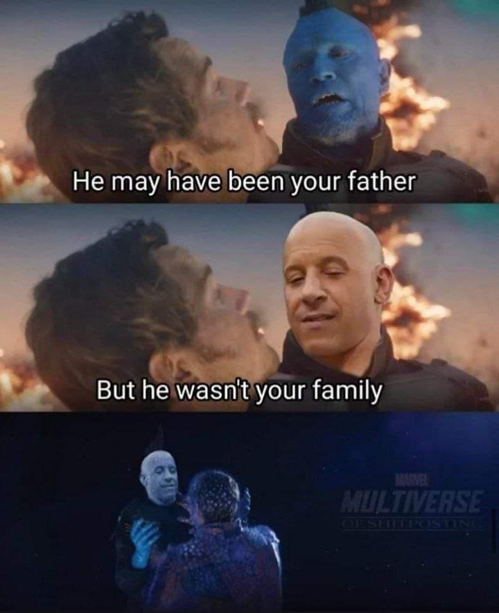 Memes vin diesel dom family daddy guardians of the Galaxy Vol 2