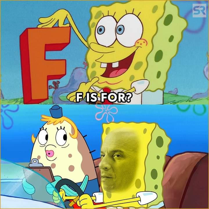 Memes SpongeBob SquarePants vin diesel dom family