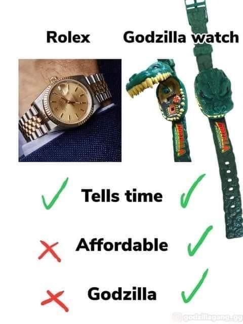 Memes Rolex vs Godzilla watch