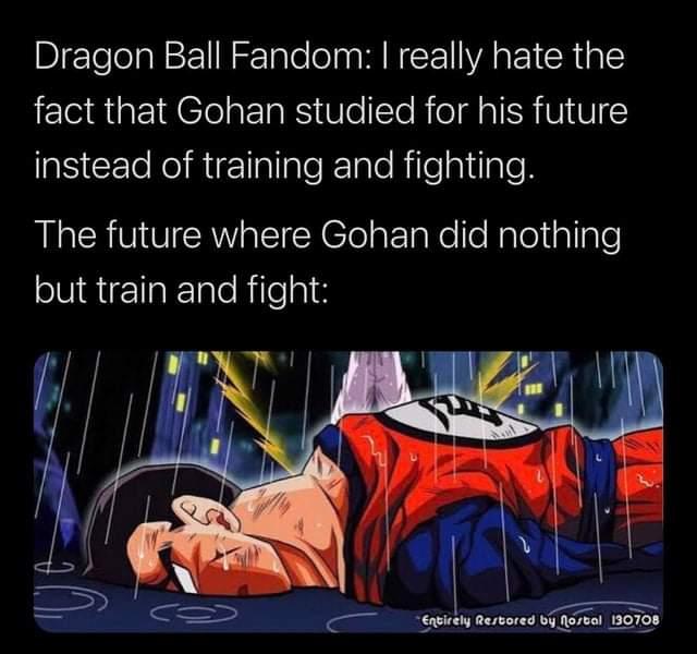 Memes future Gohan death