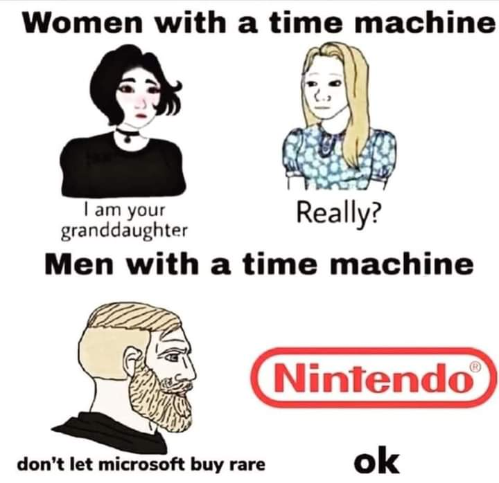 Memes Nintendo selling Rare to Microsoft
