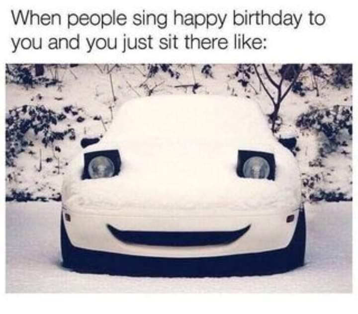Memes happy birthday in a restaurant