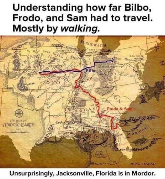 Memes lord of the rings map