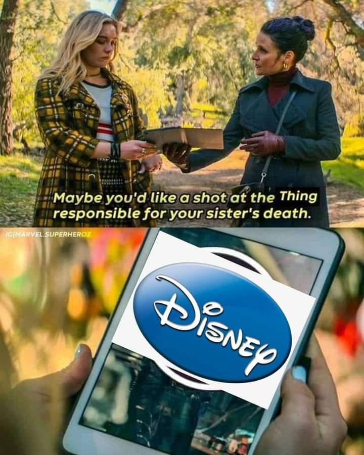 Memes disney vs Scarlett Johansson