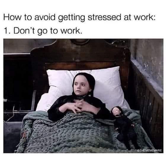 Memes stress at work