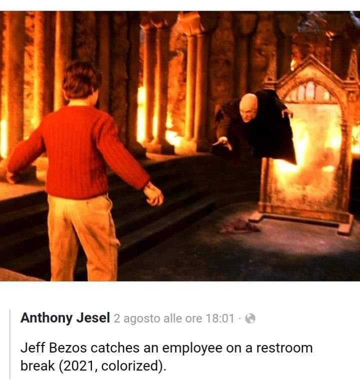 Memes jeff bezos Amazon bathroom breaks
