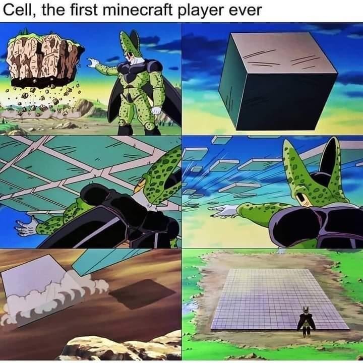 Memes Dragon Ball Z Cell Minecraft
