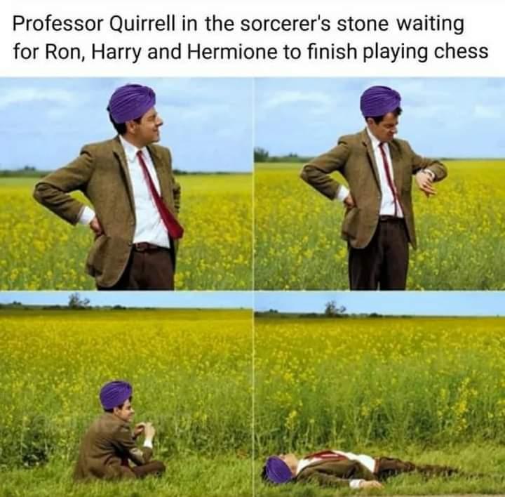 Memes professor quirrell Harry Potter