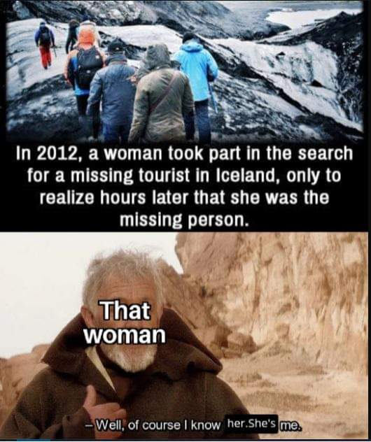 Memes lost woman