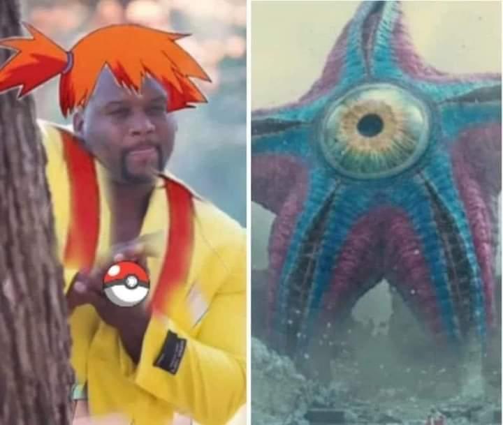 Memes starro vs misty from Pokémon