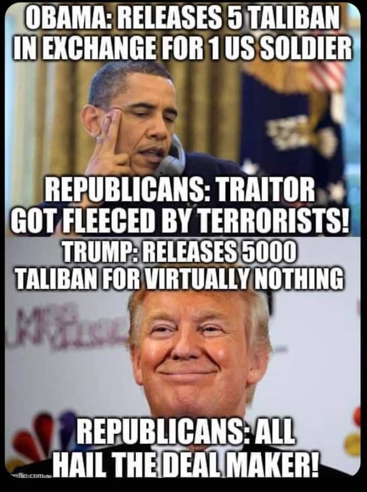 Memes Obama vs trump Afghanistan