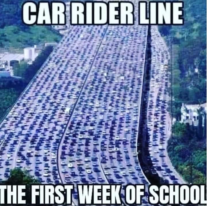 Memes car line first week of school