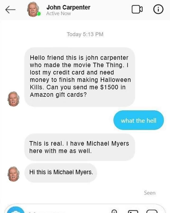 Memes john carpenter Michael myers