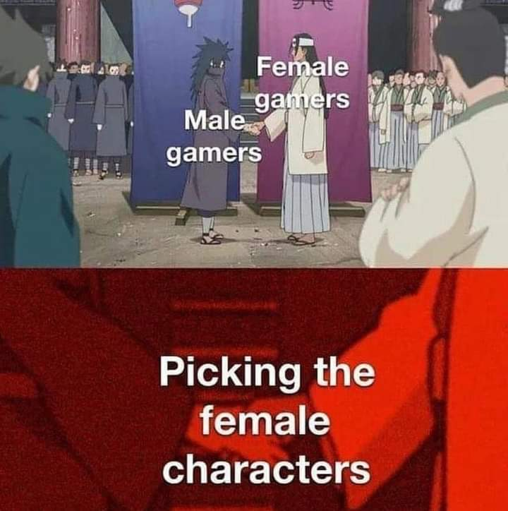Memes picking female characters video games