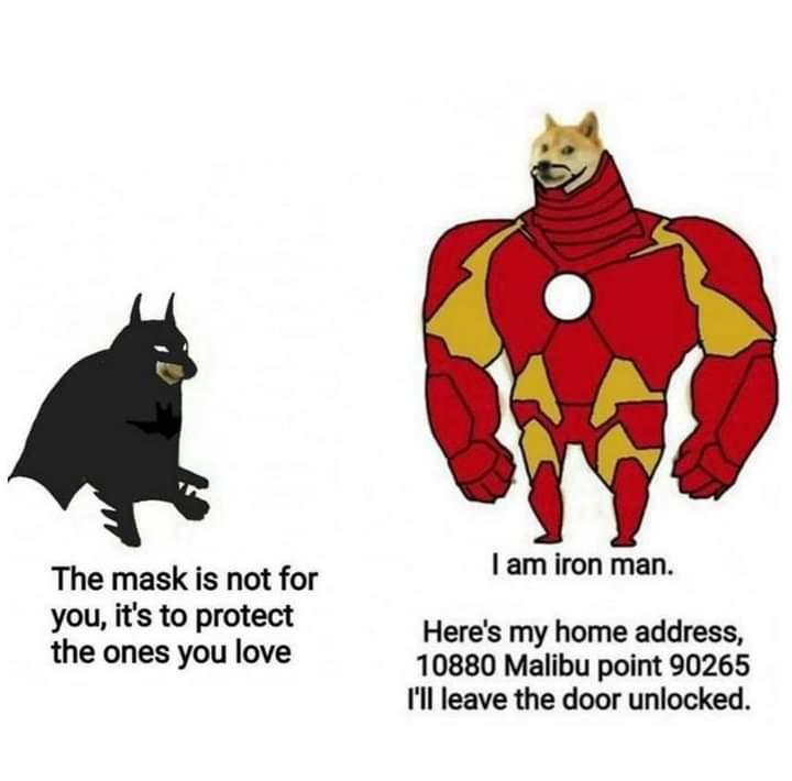 Memes batman vs iron man