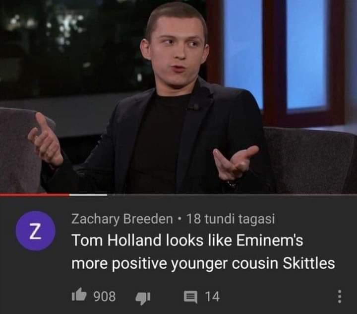 Memes tom holland Eminem skittles