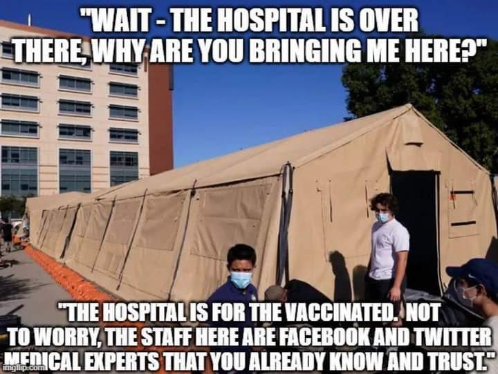 Memes tent hospital Covid-19