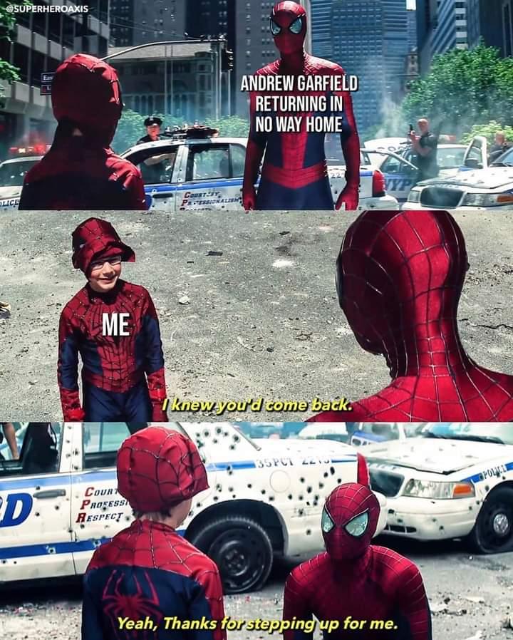Memes Andrew Garfield Spider-Man no way home