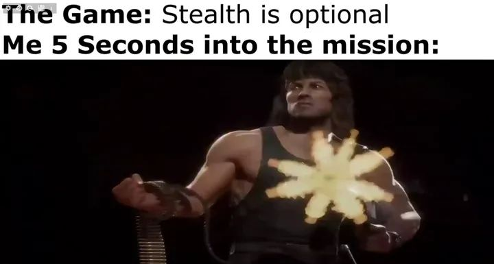 Memes optional stealth video games