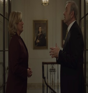 Cathy Durant working for president frank Underwood house of cards Netflix