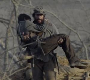 Newton Knight loses his nephew in battle Free State of Jones Matthew McConaughey